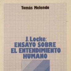 Libros de segunda mano: J. LOCKE: ENSAYO SOBRE EL ENTENDIMIENTO HUMANO. Lote 172286583