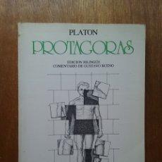 Livros em segunda mão: PROTAGORAS, PLATON, GUSTAVO BUENO, CLASICOS EL BASILISCO, PENTALFA EDICIONES, 1980. Lote 172321324