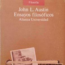 Libros de segunda mano: ENSAYOS FILOSÓFICOS. Lote 172682353