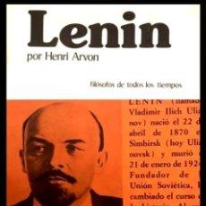 Libros de segunda mano: B2600 - LENIN. HENRI ARVON. PENSAMIENTO. FILOSOFIA. EDITORIAL EDAF 1975.. Lote 173680197