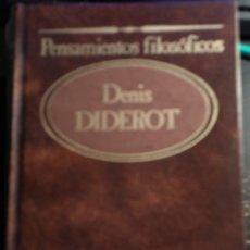 Libros de segunda mano: PENSAMIENTOS FILOSOFICOS. - DIDEROT, DENIS.. Lote 173722293