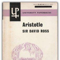 Libros de segunda mano: 1964 - SIR DAVID ROSS: ARISTOTLE - FILOSOFÍA GRIEGA, ARISTÓTELES. Lote 174023997