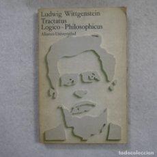 Libros de segunda mano: TRACTATUS LÓGICO-PHILOSOPHICUS - LUDWIG WITTGENSTEIN - ALIANZA - 1973 . Lote 174167325