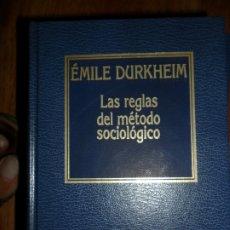 Libros de segunda mano: LAS REGLAS DEL MÉTODO SOCIOLÓGICO, ÉMILE DURKHEIM, ED. ORBIS. Lote 174430950