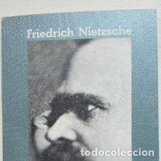 Livros em segunda mão: FRIEDRICH NIETZSCHE EL ANTICRISTO ALIANZA EDITORIAL 1974 Nº 507. Lote 176088035