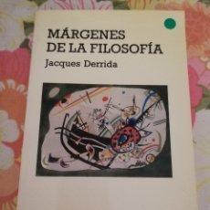 Libros de segunda mano: MÁRGENES DE LA FILOSOFÍA (JACQUES DERRIDA) CATEDRA. Lote 176427779