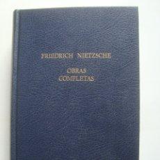Libri di seconda mano: FRIEDRICH NIETZSCHE - OBRAS COMPLETAS III LA GAYA CIENCIA ASÍ HABLÓ ZARATRUSTA ETC (PRESTIGIO 1970).. Lote 176542175