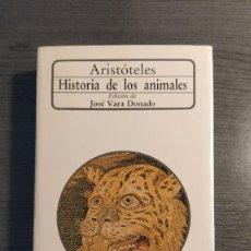 Libros de segunda mano: HISTORIA DE LOS ANIMALES ARISTOTELES. Lote 176568775