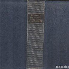 Libros de segunda mano: J. J. ROUSSEAU: OEUVRES COMPLETES. I. LA PLEIADE.. Lote 176681155