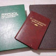 Libros de segunda mano: PERSPICACIA COMPRENDER ESCRITURAS - CONOCIMIENTO VIDA ETERNA - WATCHTOWER. Lote 177114557