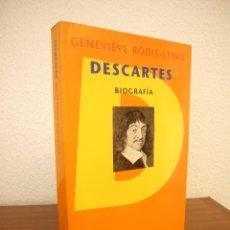Libros de segunda mano: GENEVIÈVE RODIS-LEWIS: DESCARTES. BIOGRAFÍA (PENÍNSULA, 1996) COMO NUEVO. MUY RARO.. Lote 177896353