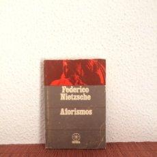 Libros de segunda mano: AFORISMOS - FRIEDRICH NIETZSCHE - SANTIAGO RUEDA EDITOR. Lote 178123524