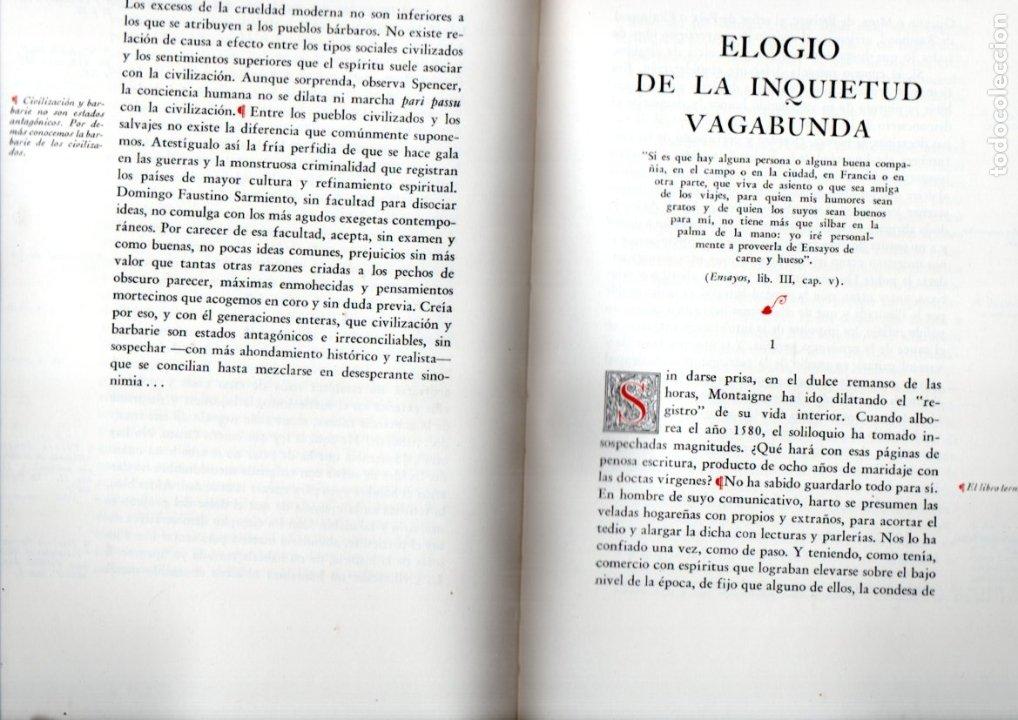 Libros de segunda mano: R. SAENZ HAYES : MIGUEL DE MONTAIGNE (KRAFT, 1946) EDICIÓN DE LUJO NUMERADA - Foto 3 - 178367555