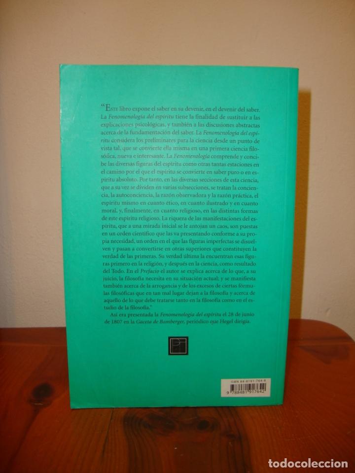 Libros de segunda mano: FENOMENOLOGÍA DEL ESPÍRITU - GEORG WILHELM FRIEDRICH HEGEL - PRE-TEXTOS, MUY BUEN ESTADO - Foto 3 - 178624606