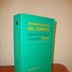 Libros de segunda mano: FENOMENOLOGÍA DEL ESPÍRITU - GEORG WILHELM FRIEDRICH HEGEL - PRE-TEXTOS, MUY BUEN ESTADO. Lote 178624606