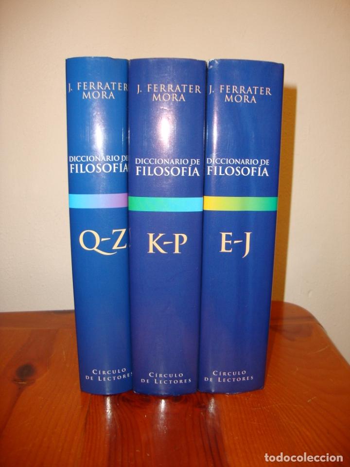 Libros de segunda mano: DICCIONARIO DE FILOSOFÍA. TOMO II,III Y IV. FERRATER MORA - CÍRCULO DE LECTORES, ENCUAD. EN TELA - Foto 2 - 178735250