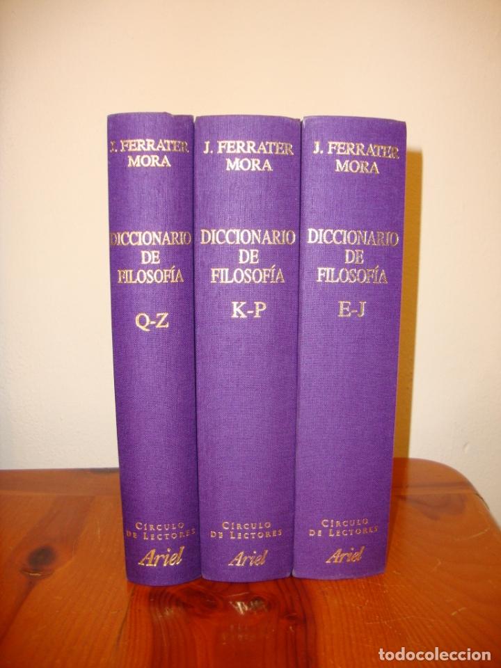 Libros de segunda mano: DICCIONARIO DE FILOSOFÍA. TOMO II,III Y IV. FERRATER MORA - CÍRCULO DE LECTORES, ENCUAD. EN TELA - Foto 3 - 178735250