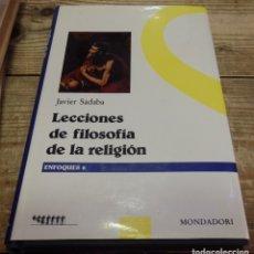 Libros de segunda mano: LECCIONES DE FILOSOFIA DE LA RELIGION . Lote 178970475