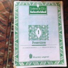 Libros de segunda mano: PRESOCRÁTICOS JOSÉ MARÍA GARCÍA MAMIÑO. SUBRAYADO. Lote 178992092