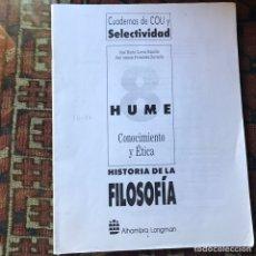 Libros de segunda mano: HUME. HISTORIA DE LA FILOSOFÍA. SURAYADO. Lote 178992220