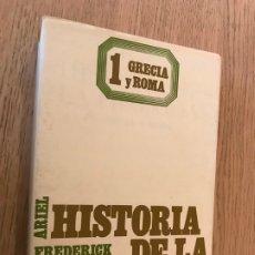 Libros de segunda mano: HISTORIA DE LA FILOSOFIA. GRECIA Y ROMA 1 - FREDERICK COPLESTON 1991. Lote 179137381