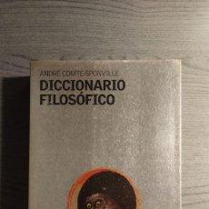 Libros de segunda mano: DICCIONARIO FILOSÓFICO ANDRÉ COMTE-SPONVILLE, EDICIONES PAIDÓS IBÉRICA.. Lote 179331588