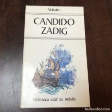 Libros de segunda mano: CANDIDO ZADIG - VOLTAIRE. Lote 179344166