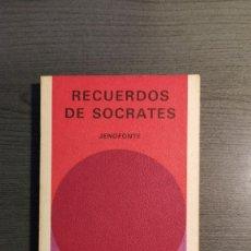 Libros de segunda mano: RECUERDOS DE SOCRATES. JENOFONTE. BIBLIOTECA GENERAL SALVAT. Lote 180013230