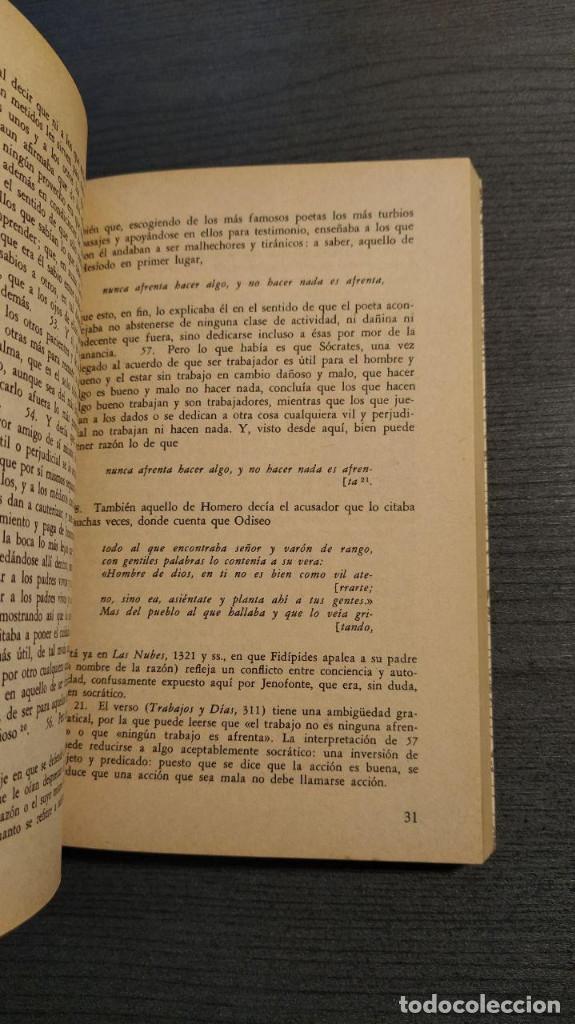 Libros de segunda mano: RECUERDOS DE SOCRATES. JENOFONTE. BIBLIOTECA GENERAL SALVAT - Foto 6 - 180013230