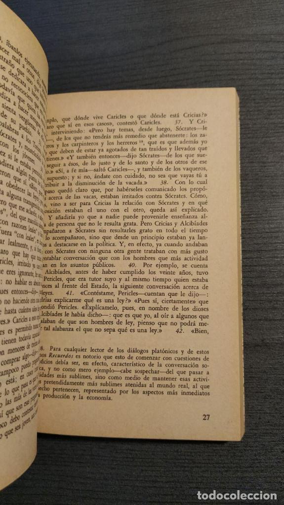 Libros de segunda mano: RECUERDOS DE SOCRATES. JENOFONTE. BIBLIOTECA GENERAL SALVAT - Foto 9 - 180013230
