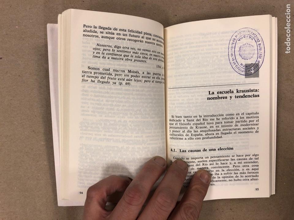 Libros de segunda mano: EL KRAUSISMO Y LA INSTITUCIÓN LIBRE DE ENSEÑANZA. A. JIMÉNEZ GARCÍA. SERIE HISTORIA DE LA FILOSOFÍA - Foto 4 - 180029436