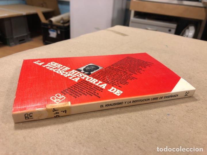 Libros de segunda mano: EL KRAUSISMO Y LA INSTITUCIÓN LIBRE DE ENSEÑANZA. A. JIMÉNEZ GARCÍA. SERIE HISTORIA DE LA FILOSOFÍA - Foto 6 - 180029436