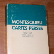 Libros de segunda mano: CHARLES-LOUIS DE SECONDAT, BARÓ DE MONTESQUIEU - CARTES PERSES - LAIA, 1984. Lote 179551091