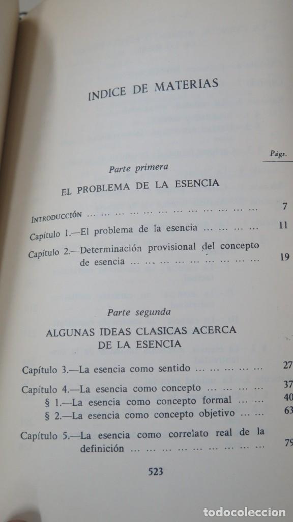 Libros de segunda mano: SOBRE LA ESENCIA. ZUBIRI - Foto 2 - 180115056