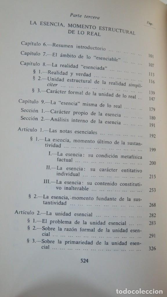 Libros de segunda mano: SOBRE LA ESENCIA. ZUBIRI - Foto 3 - 180115056