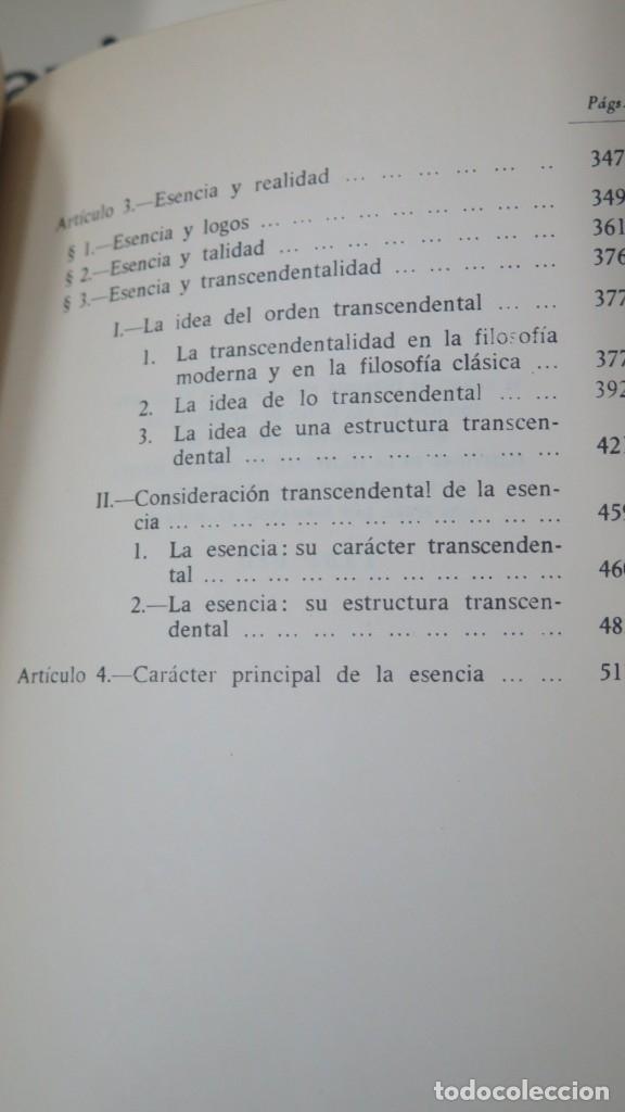 Libros de segunda mano: SOBRE LA ESENCIA. ZUBIRI - Foto 4 - 180115056