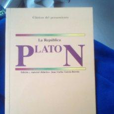 Libros de segunda mano: LA REPÚBLICA. PLATÓN. Lote 180177332