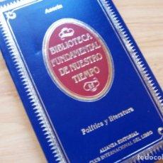 Libros de segunda mano: POLÍTICA Y LITERATURA. FANTASÍAS Y DEVANEOS.AZORÍN. BIBLIOTECA FUNDAMENTAL DE NUESTRO TIEMPO. Lote 180427853