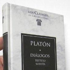 Libros de segunda mano: DIÁLOGOS. TEETETO / SOFISTA - PLATÓN. Lote 180449116