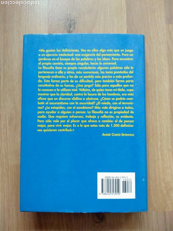 Libros de segunda mano: Diccionario filosófico. André Comte-Sponville. - Foto 3 - 181457492