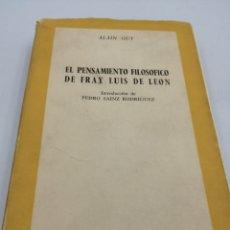 Libros de segunda mano: EL PENSAMIENTO FILOSÓFICO DE FRAY LUIS DE LEON. Lote 181500290