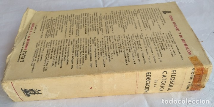 Libros de segunda mano: FILOSOFIA CATOLICA DE LA EDUCACION. REDDEN & RYAN - Foto 2 - 181503265