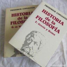 Libros de segunda mano: 2 VOLÚMENES DE HISTORIA DE LA FILOSOFÍA Nº 1 + 6 FREDERICK COPLESTON, ARIEL. Lote 181893436