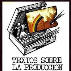 Libros de segunda mano: MARX. ENGELS. TEXTOS SOBRE LA PRODUCCION ARTISTICA. FILOSOFIA. PENSAMIENTO.. Lote 181976466