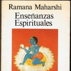 Libros de segunda mano: ENSEÑANAZAS ESPIRITUALES RAMANA MAHARSHI . Lote 182622557