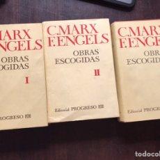Libros de segunda mano: OBRAS ESCOGIDAS. I, II Y III. MARX F. ENGELS. EDITORIAL PROGRESO. Lote 182653708