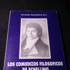 Libros de segunda mano: LOS COMIENZOS FILOSÓFICOS DE SCHELLING. IGNACIO FALGUERAS (ED.). Lote 182661245