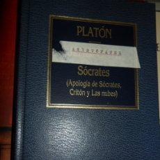 Libros de segunda mano: APOLOGÍA DE SÓCRATES, CRITÓN Y LAS NUBES, PLATÓN, JENOFONTE, ED. ORBIS. Lote 182678947