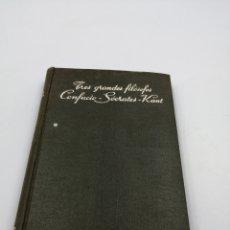 Libros de segunda mano: VIDA EJEMPLAR TRES GRANDES FILÓSOFOS CONFUCIO-SOCRATES - KANT. Lote 182963167