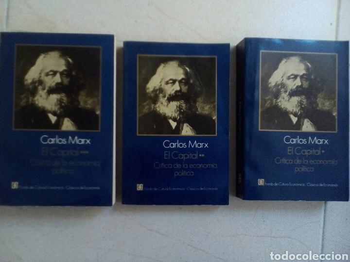 CARLOS MARX: EL CAPITAL. CRITICA DE LA ECONOMIA POLITICA. TRES TOMOS. COMPLETA (Libros de Segunda Mano - Pensamiento - Filosofía)